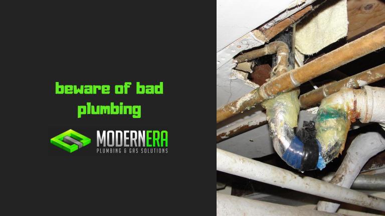 Bad plumbing examples